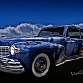 48 Lincoln Continental By Moonlight by Chas Sinklier