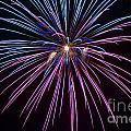 4th Of July 2014 Fireworks Bridgeport Hill Clarksburg Wv 1 by Howard Tenke
