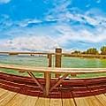 4x1 Anna Maria Island Rod And Reel Pier by Rolf Bertram