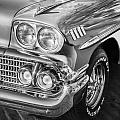1958 Chevrolet Bel Air Impala Painted Bw  by Rich Franco