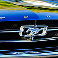 1965 Shelby Prototype Ford Mustang Grille Emblem by Jill Reger