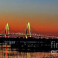 Arthur Ravenel Bridge Orange Glow by Dale Powell