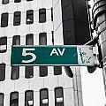 5 Ave. Sign by Sam Garcia