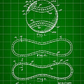 Baseball Patent 1927 - Green by Stephen Younts