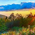 Blue Ridge Parkway Late Summer Appalachian Mountains Sunset West by Alex Grichenko