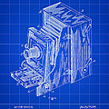 Camera Patent 1887 - Blue by Stephen Younts