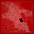 Cochabamba Street Map - Cochabamba Bolivia Road Map Art On Color by Jurq Studio