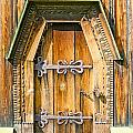 Detail Of The Door Of A Typical Ukrainian Antique Orthodox Churc by Alain De Maximy