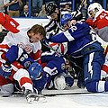 Detroit Red Wings V Tampa Bay Lightning by Mike Carlson