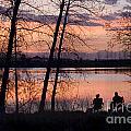 Fly Fishing At Sunset by Steve Krull