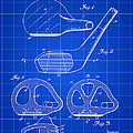 Golf Club Patent 1926 - Blue by Stephen Younts