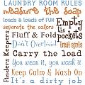 Laundry Room Rules Poster by Jaime Friedman