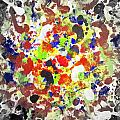 Modern Abstract Painting Original Canvas Art Twister By Zee Clark by Zee Clark