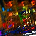 Moving Fast In The Town At Night  by Alain De Maximy