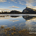 Mt. Rundle And Vermillion Lake by John Shaw