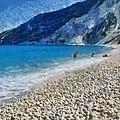 Myrtos Beach In Kefallonia Island by George Atsametakis