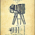 Photographic Camera Patent Drawing From 1885 by Aged Pixel