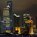 Pudong At Night by John Shaw