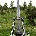 Replica Of Wooden Trebuchet On The Path Leading To The Urquhart Castle by Ashish Agarwal