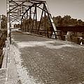 Route 66 - One Lane Bridge by Frank Romeo