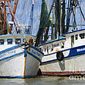 Shrimp Boats On The Creek by Dale Powell