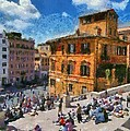 Spanish Steps At Piazza Di Spagna by George Atsametakis