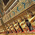 Temple In Grand Palace Bangkok Thailand by Jacek Malipan