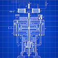 Tesla Electric Generator Patent 1894 - Blue by Stephen Younts