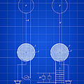 Tesla Electric Transmission Patent 1900 - Blue by Stephen Younts
