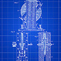 Tesla Electro Magnetic Motor Patent 1889 - Blue by Stephen Younts