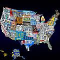The Usa License Tag Map by Brian Reaves