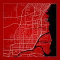 Thunder Bay Street Map - Thunder Bay Canada Road Map Art On Colo by Jurq Studio