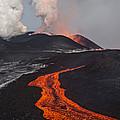 Tolbachik Volcano Erupting Kamchatka by Sergey Gorshkov