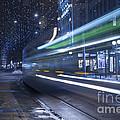Tram At Night by Mats Silvan