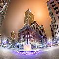 Tulsa City Skyline Around Downtown Streets by Alex Grichenko