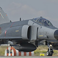 Turkish Air Force F-4 Phantom At Konya by Giovanni Colla