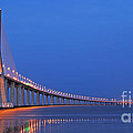 Vasco Da Gama Bridge In Lisbon by Luis Alvarenga