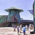 Visitors Heading Towards The Waterworld Attraction by Ashish Agarwal
