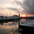 Yachts At Sunset by Anthony Dezenzio