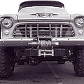56 Chevy Truck In Bw by Don Durante Jr