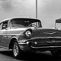 57 Chevy Bel-aire In Bw by Don Durante Jr