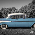 57 Chevy Black And White And Color by David B Kawchak Custom Classic Photography