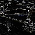 57 Chevy Neon Glow by Steve McKinzie