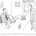 Even Though You Gave The Ceo A Kidney by Leo Cullum