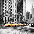 5th Avenue Yellow Cab by John Farnan