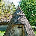 A Typical Ukrainian Antique Hut by Alain De Maximy
