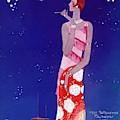 A Vintage Vogue Magazine Cover Of A Woman by Eduardo Garcia Benito