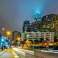 Charlotte City Skyline  by Alex Grichenko