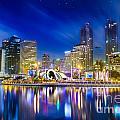 City Town At Night by Anek Suwannaphoom