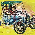 Classical Car Stylized Pop Art Poster by Kim Wang